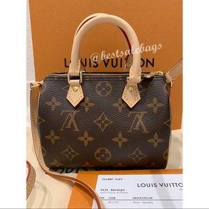 New 2020 Authentic Louis Vuitton Nano Speedy Bag